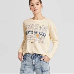 NEW Doe State of Kind Pullover Sweatshirt